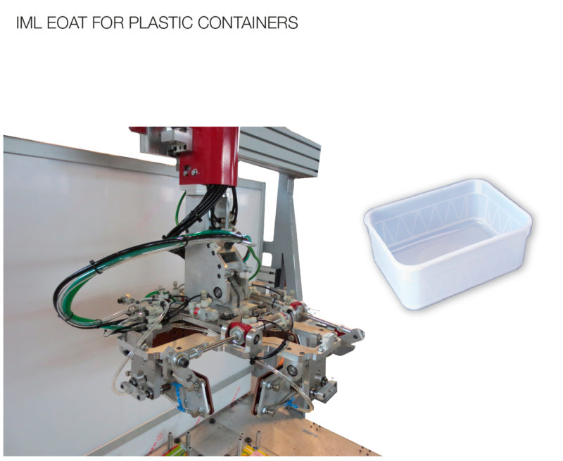 IML EOAT for plastic containers