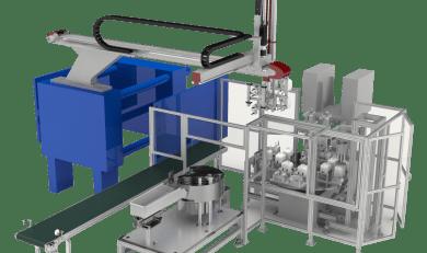 Automazione per saldatura e pallettizzazione boiller